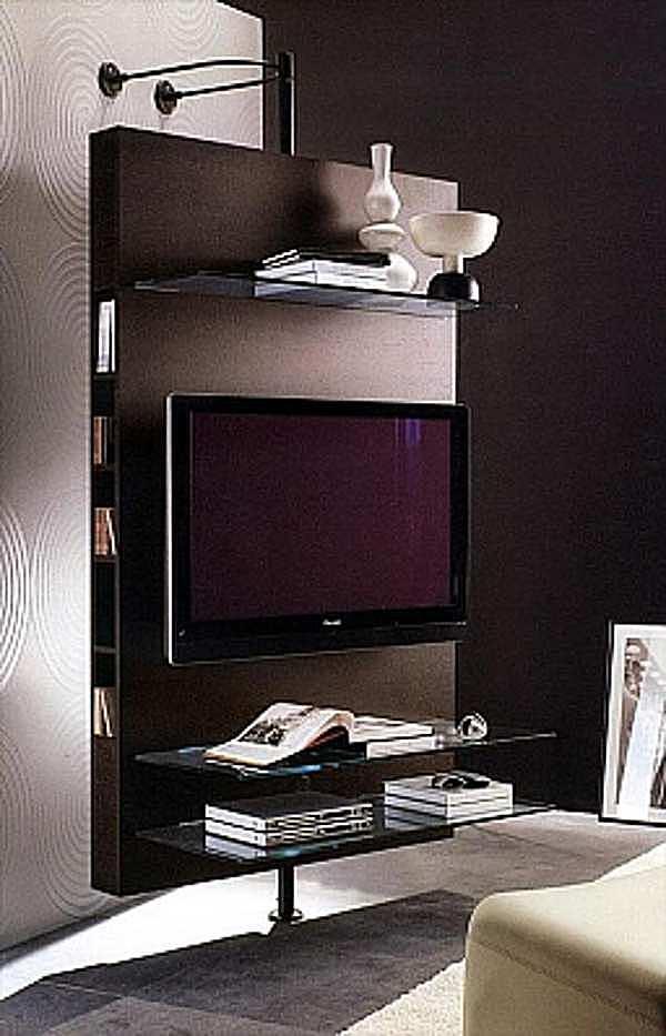 Support pour TV-HI-FI PORADA Media Centre a parete LOGOS